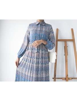 Vintage Midi Dress Sp287 by Etsy