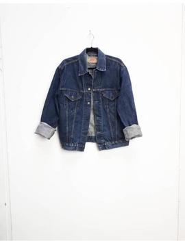 Levi's Denim Jacket Vintage Blue Denim Jacket Levi Dark Blue Jean Jacket Levi's Unisex Denim Jacket Vintage Blue Denim Coat Levi Vintage by Etsy