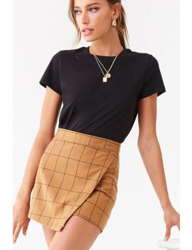 Grid Print Skirt by Forever 21