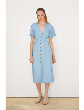 Buttoned Dress View All Dresses Woman by Zara