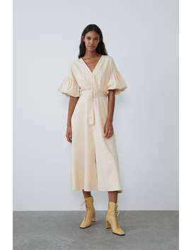 Voluminous Dress With Belt View All Dresses Woman by Zara