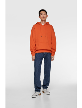 Basic Hooded Sweatshirt Basics Sweatshirts Man by Zara