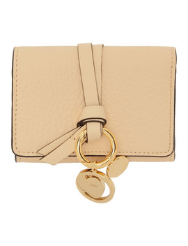 Beige Small Alphabet Compact Wallet by ChloÉ