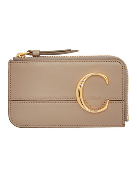 Grey 'chloé C' Small Card Holder by ChloÉ