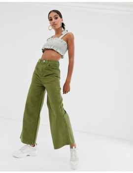 Reclaimed Vintage The '93 Wide Cord Jean In Washed Khaki by Reclaimed Vintage