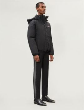 Logo Appliquéd Padded Shell Hooded Jacket by Givenchy