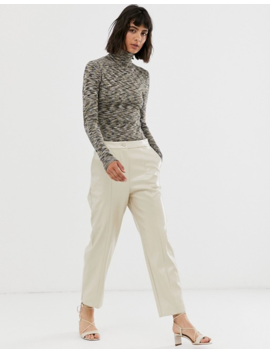 Weekday   Pantalon Effet Verni   Beige by Weekday