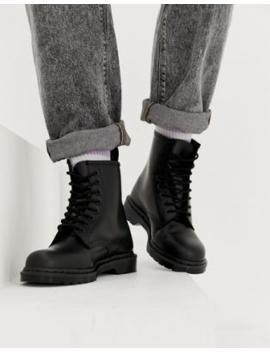 Черные ботинки с 8 парами люверсов Dr Martens 1460 by Dr Martens