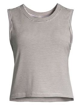 Jasper Cropped Striped Tank Top by Maison Du Soir
