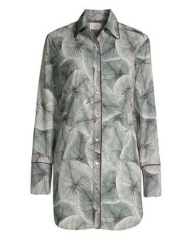 Sam Palm Leaf Sleep Shirt by Maison Du Soir