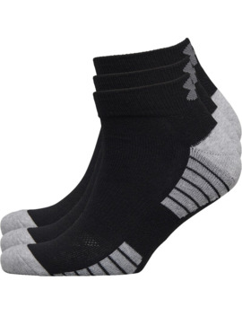 Under Armour Hg Heat Gear Tech Low Cut Three Pack Socks Black by Under Armour