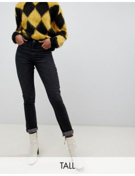 Only Tall   Mom Jeans In Zwart by Only's