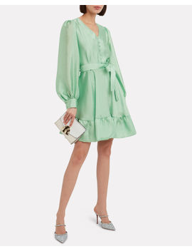 Farrow Crepe Blouson Sleeve Dress by Stine Goya