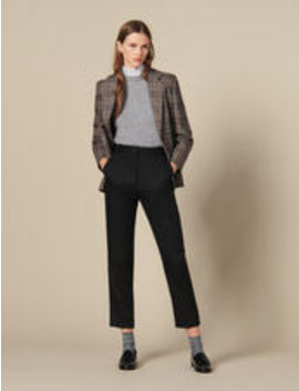 Fitted Trousers With Pin Tuck Pleats by Sandro Eshop