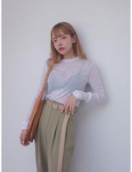 Crinkled Sheer T Shirt by Stylenanda