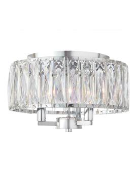 3 Light Chrome Flush Mount by Home Decorators Collection