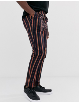 Asos Design Tall Cigarette Pants In Stripe by Asos Design