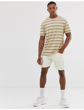 Asos Design Organic Cotton Relaxed T Shirt In Stripe by Asos Design