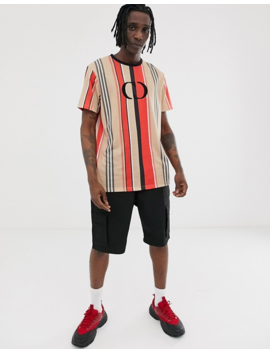 Criminal Damage Oversized T Shirt In Stripe With Logo by Criminal Damage's