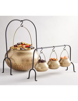 Gold Cauldron Serveware Collection by Pottery Barn