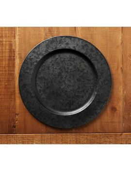 Blackened Galvanized Charger by Pottery Barn
