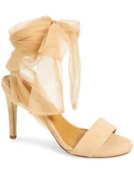 Aura Tulle Ankle Strap Sandal by Jaggar