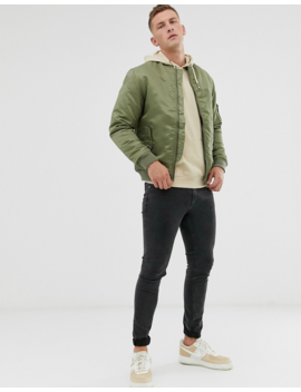 Soul Star Bomber Ma1 Jacket In Khaki by Jacket