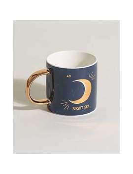 night-sky-navy-blue-&-gold-mug by olivar-bonas