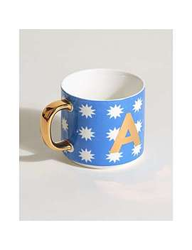 Star Alphabet Initial Mug by Olivar Bonas