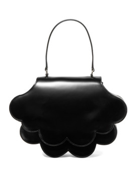 Flower Bean Glossed Leather Tote by Simone Rocha