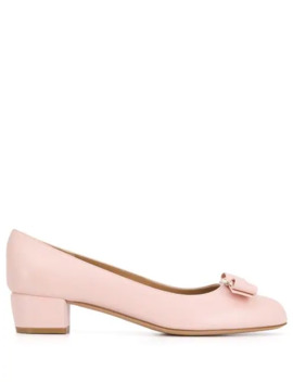 Bow Detailed Pumps by Salvatore Ferragamo