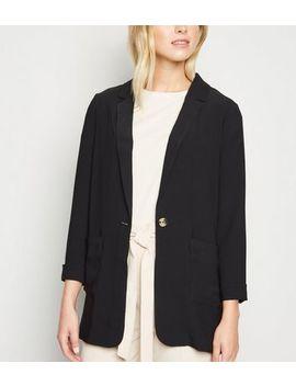 Tall Black Lightweight Long Sleeve Blazer by New Look