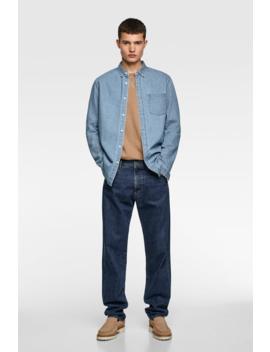 Basic Denim Shirt View All Shirts Man by Zara