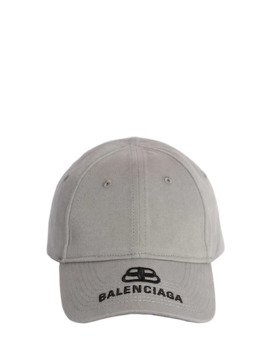 Bb Embroidered Logo Cotton Baseball Hat by Balenciaga