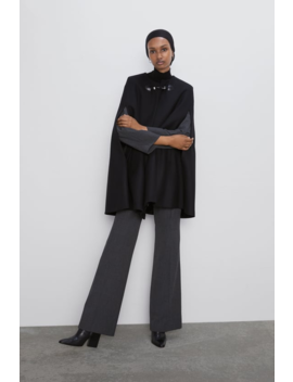 Cape With Pockets  Coatswoman by Zara