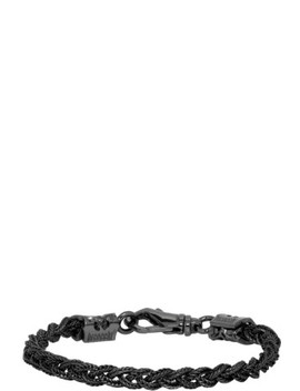 Black Tiny Braided Bracelet by Emanuele Bicocchi