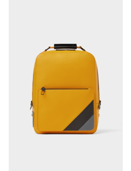 Yellow Backpack With Stripes Bags Man Shoes & Bags by Zara