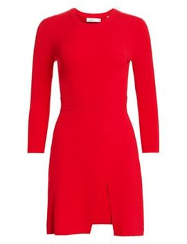 Hadley Front Slit Knit Sheath Dress by A.L.C.