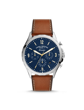 Forrester Chronograph Luggage Leather Watch by Fossil