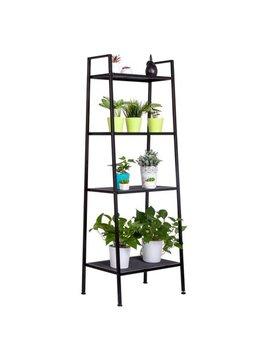 Zimtown 4 Tier Leaning Ladder Shelf Bookcase Bookshelf Storage Shelves Unit Organizer by Zimtown