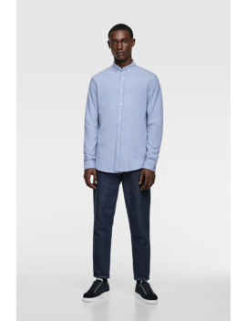 Textured PiquÉ Shirt View All Shirts Man by Zara