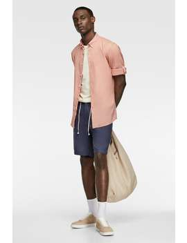Relaxed Shirt With Sleeve Tabs View All Shirts Man by Zara