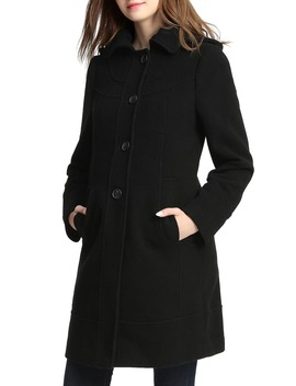 Wool Blend Maternity Coat by Kimi And Kai