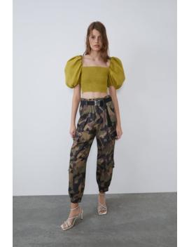 Voluminous Crop Top Topswoman by Zara
