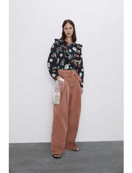 Zw Premium Ray Pleated High Waist Jeans In Dusty Rose Jeans Denim Woman Cornershops by Zara