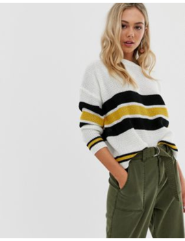 Qed London Jumper In Mixed Stripe by Jumper