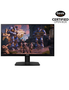 """Acer 27"""" Ultrathin Fhd 75 Hz 1ms Gtg Ips Led Free Sync Gaming Monitor (Ha270)   Black   Open Box by Best Buy"""