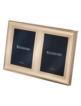 Lismore Diamond Gold 5x7 Double Frame   Discontinued by Waterford