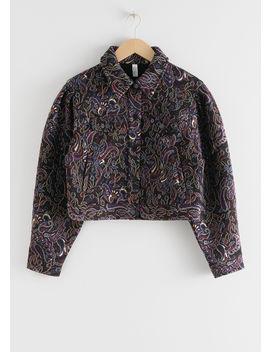 Paisley Jacquard Boxy Jacket by & Other Stories