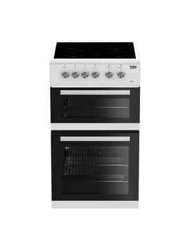 Kdvc563 Aw 50 Cm Electric Ceramic Cooker   White by Currys
